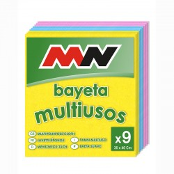 BAYETAS MULTIUSOS COLOR X9